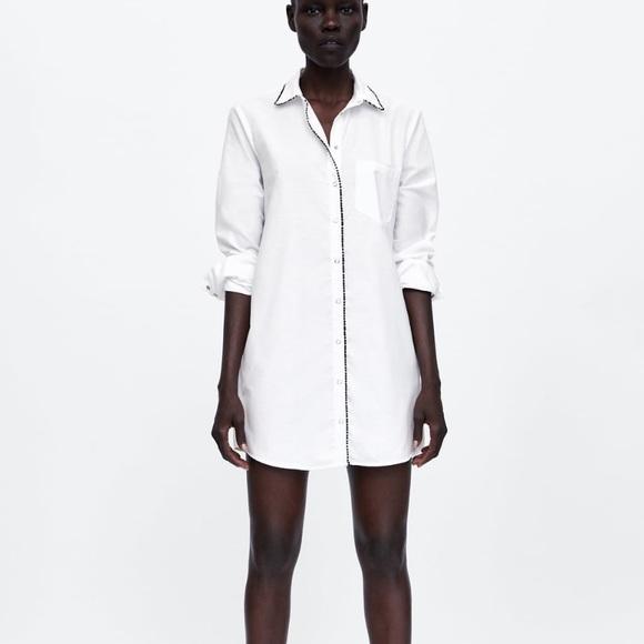 white shirt zara